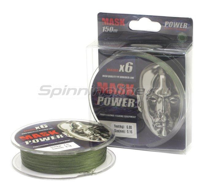 Шнур Akkoi Mask Power X6 150м 0,14мм Dark Green -  1