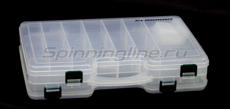 Коробка Flagman двусторонняя 290х200х60мм, арт. WH307 – купить по цене 748 рублей в Москве с доставкой по России в рыболовном интернет-магазине Spinningline