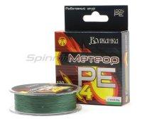 Шнур Волжанка Метеор Х4 150м 0,10мм зеленый