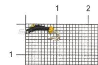Мормышка Volfram37 Коза Уралка d1.5 с коронкой золото