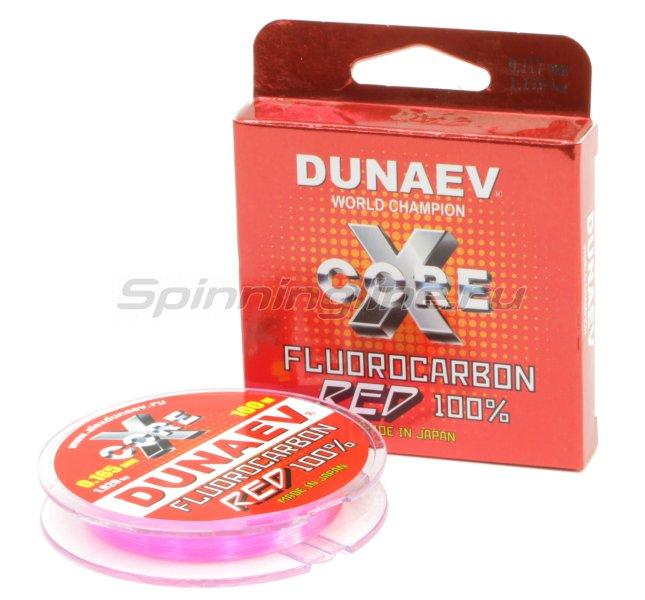 Флюорокарбон Dunaev Fluorocarbon 100м 0,117мм red -  1