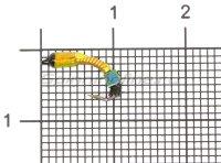 Мормышка Санхар Лесотка №1 кубик хамелеон, желтый