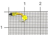 Мормышка Санхар Лесотка №1 кубик сырный, желтый