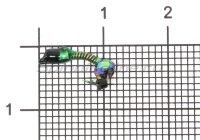 Мормышка Санхар Лесотка №1 кристалл хамелеон, зеленый