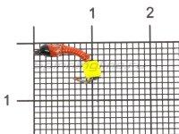 Мормышка Санхар Лесотка №1 кубик сырный, красный