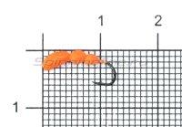 Мормышка Левша НН Лесной Муравей d2,5 0,35гр красный fluo +