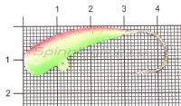 Мормышка Liman Fish Клык с ушком 8гр зеленый/красный