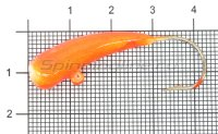 Мормышка Liman Fish Клык с ушком 8гр оранжевый