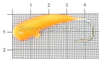Мормышка Liman Fish Клык с ушком 12гр оранжевый