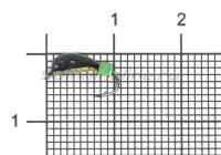 Мормышка Санхар Овсинка №2 кубик хамелеон, латунь