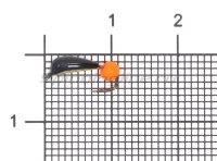 Мормышка Санхар Гвоздик №1 флуоресцентный оранжевый шар, латунь