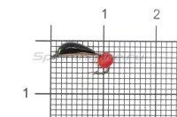 Мормышка Санхар Гвоздик №1 флуоресцентный красный шар, медь