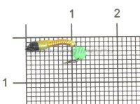 Мормышка Санхар Лесотка №1 флуоресцентный шар зеленый, желтый