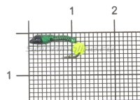 Мормышка Санхар Лесотка №1 флуоресцентный шар желтый, зеленый