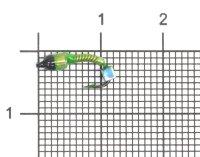 Мормышка Санхар Лесотка №2 кубик хамелеон, салатовый