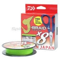 Шнур Daiwa J-Braid Grand X8E-W/SC 135м 0,18мм Chartreuse + ножницы