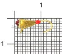 Мормышка Helios Молоток с ушком d3 0,7гр GO фосфор