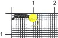 Мормышка Premier Гвоздешарик d1,5 0,4гр ядреный глаз желтый неон