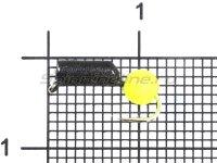 Мормышка Premier Гвоздешарик d2,5 0,82гр ядреный глаз желтый неон