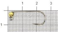 Джиг-головка Lucky John Area Trout Game №4 3,5мм GRGY