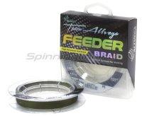Шнур Allvega Feeder Braid тёмно-оливковый 150м 0,12мм
