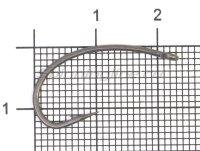 Крючок Nautilus Carp Curved Shank NK-1PTFE №4
