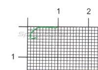 Крючок Higashi Akitakitsune Ringed №3 Green