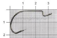 Крючок Nautilus Offset Cutting Point series Wide Gape CP-27 BN №1