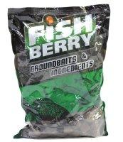 Пеллетс гранулированный Fishberry темно-коричневый 18мм 1кг Лосось