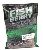 Пеллетс гранулированный Fishberry бордовый 6мм 1кг Палтус