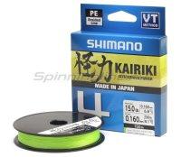 Шнур Shimano Kairiki 4 PE 150м 0,06мм green