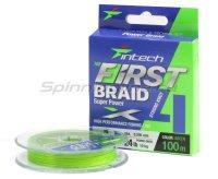 Шнур Intech First Braid X4 100м 0,09мм Green