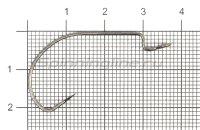 Крючок Saikyo BS-3315 BN №1