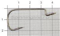 Крючок Saikyo BS-3324 BN №1
