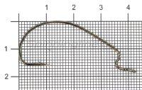 Крючок Nautilus Offset Big Eye Series Worm 1006 №1/0