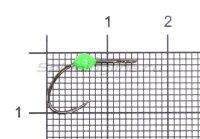 Крючок LureMax Trout LT37B №4 Green