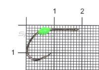 Крючок LureMax Trout LT37B №6 Green