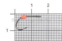 Крючок LureMax Trout LT37B №4 Orange