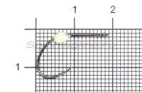 Крючок LureMax Trout LT37B №6 Phospho