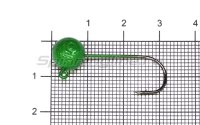 Джиг-головка шар AMFishing кр. Gamakatsu №1 5гр зеленый