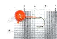 Джиг-головка шар AMFishing кр. Gamakatsu №2 7гр оранжевый