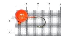 Джиг-головка шар AMFishing кр. Gamakatsu №4 8гр оранжевый