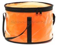 Ведро для прикормки с крышкой оранжевый