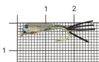 Малек силиконовый Liman Fish KH №10 черный