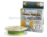 Шнур Hitfish X4 Camou Feeder 150м 0,13мм