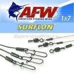 Поводок оснащенный AFW Surflon 1*7 20кг-20см - фотография 1