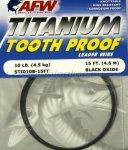 Поводковый материал AFW Titanium Tooth Proof 34кг, 4.6м - фотография 1