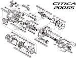 Shimano - Катушка Citica 200G RH - фотография 6