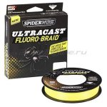 Spiderwire - Шнур Ultra Cast Fluorobraid Yellow 110м 0,28мм - фотография 1