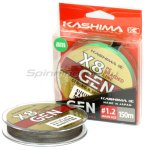 Шнур KASHIMA X8 0,242мм dark grey - фотография 1